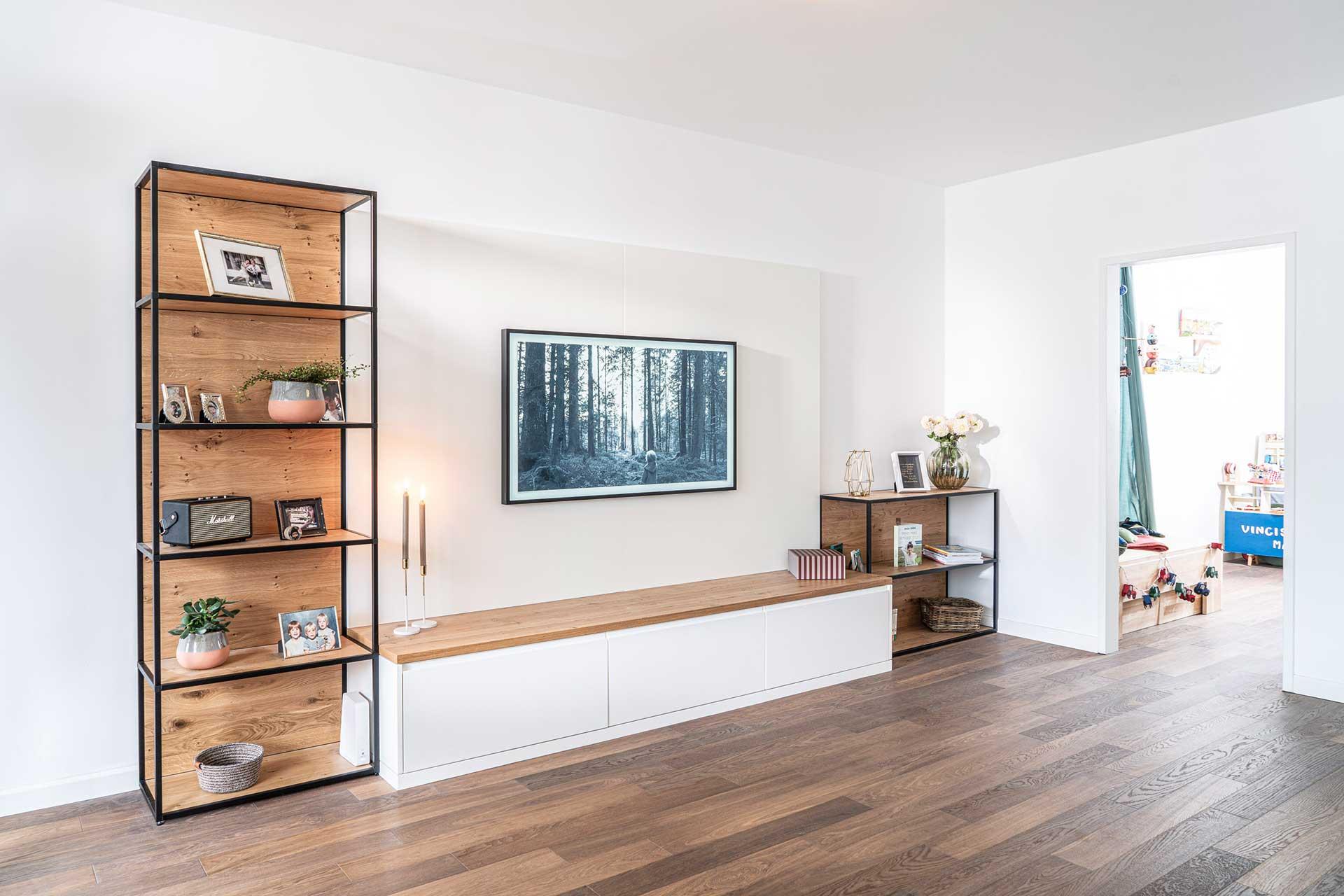 modernes Sideboard mit Fernseh Wall maßgefertigt